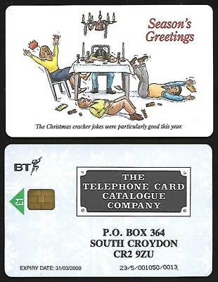 PRO339C TCC CARTOON CHRISTMAS (2) MINT BT PHONECARD ONLY 50 ex IN ISSUE FOLDER