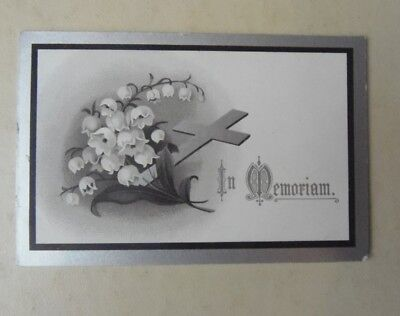 Antique  Memoriam Remembrance Mourning Card 1915- Ann Jane Cripps