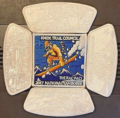 Knox Trail Council WINTER WHITE Ghosted 5pc JSP Set 2017 National Jamboree MINT