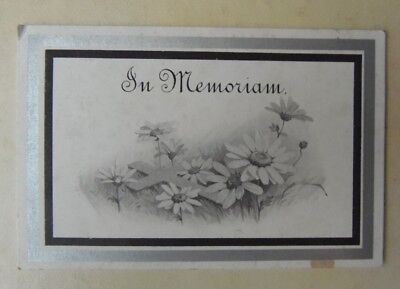 Antique Child Memoriam Remembrance Mourning Card 1909 Gladys Louisa Dore Croydon