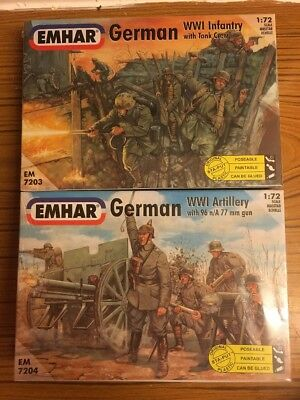 EMHAR WW1 Infantry & Artillery 1:72 Sealed