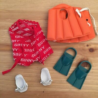 GINNY MUFFIE Vogue Original Outfit - Swimsuit Lifejacket Flippers Sandals TAGGED