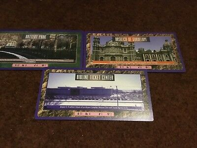 The Sims CCG / TCG - 3 large city cards - rare