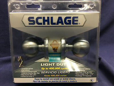 Schlage F80CS V4 ORB 626 Store Room Lock Stain Chrome