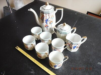 Vintage CHINESE FOREIGN BONE CHINA KLIMAX tea set USEFUL FOR DISPLAY OR SPARES