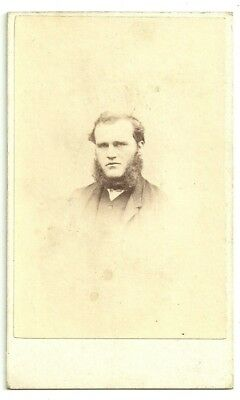 Victorian cdv photo bearded young man Manchester  photographer