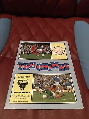 Portsmouth V Oxford United 1981 Div Three Football Programme