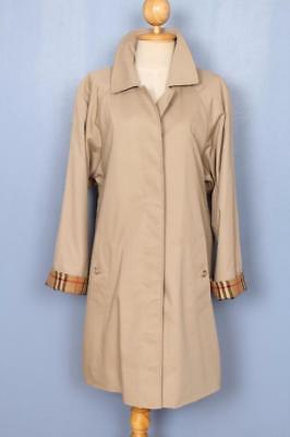 Womens BURBERRY Single Breasted Short TRENCH Coat Mac Beige 12/14
