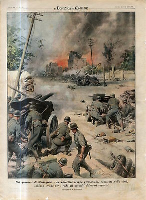 1942 WW2 Russia,Stalingrad.The victorious German troops entered the city Print