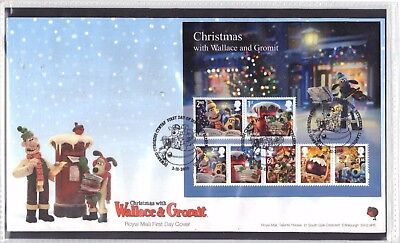 Gb 2010 - Minisheet On Fdc . Christmas With Wallace And Gromit
