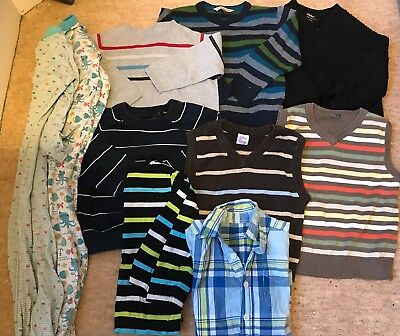 Bundle Toddler Boys Children Clothes 2-3 Years. Jumpers. Sleepsuits. Tops. 10