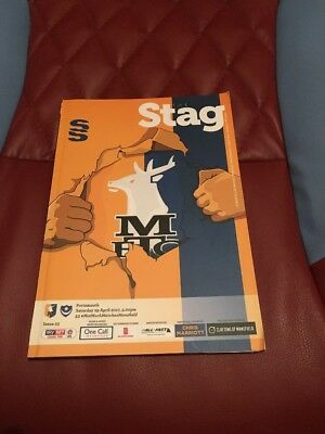 Mansfield Town V Portsmouth 2017 League Two Football Programme