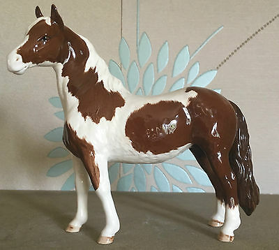 Royal Doulton Horse Pony Pinto Skewbald Brown & White Gloss  Perfect