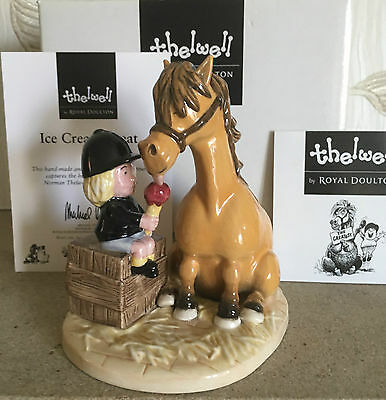 Royal Doulton Thelwell Pony Ice Cream Treat Model Nt9 New Boxed With Certificate