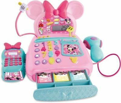 Minnie Mouse Cash Register Disney Junior Electronic With Accessories Toy Playset