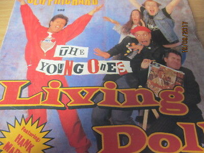 """Young Ones Cliff Richard 7"""" P/s - Living Doll / Happy"""