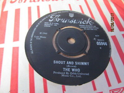 """The Who 7"""" - My Generation / Shout And Shimmy"""