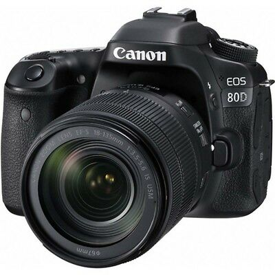 Canon EOS 80D Digital Camera Kit with 18-135mm IS USM Lens