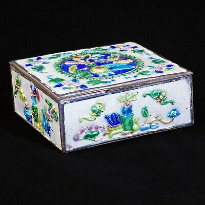 Chinese enameled brass box c 1930 Scholar Objects