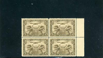 Canada 1932 Airmail Scott C1 Mint NH Block of Four