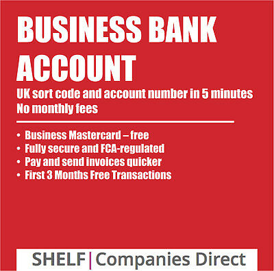 UK Business Bank Account Sort Code Account Number in 5 Minutes No Credit Check