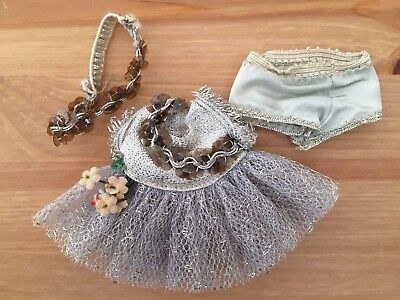 GINNY MUFFIE Vogue Original Outfit - Fancy Princess Ball Dress Silver TAGGED