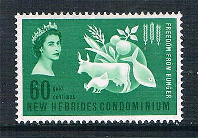 New Hebrides 1963 Freedom from Hunger SG 95 MNH