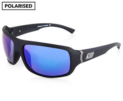 Dirty Dog Men's Black Hammer Polarised Sunglasses - Black/Blue
