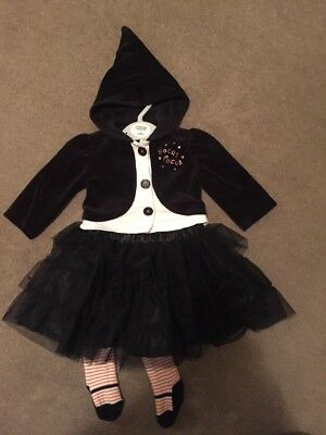 mamas and papas Baby Halloween Witch Costume 3-6 Months