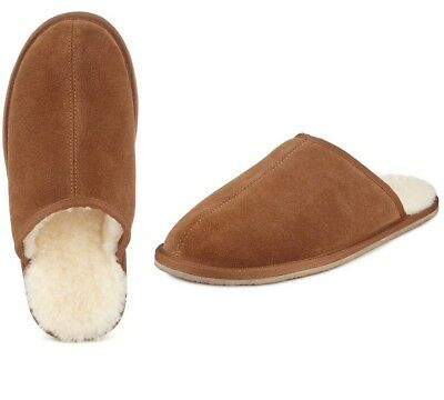 Marks & Spencer Mens Shearling Mule Slippers with Thinsulate Size 9 RRP £39.50