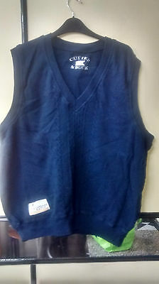 Cutter & Buck Men Navy Blue Tank Top Vest  Size L