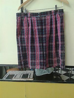 Pringle Sports Ladies pink and Navy Check Golf Shorts Size 32""