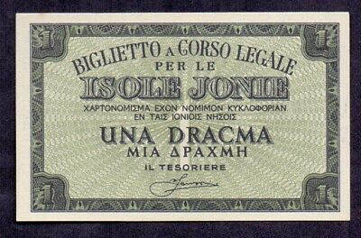 1 Drachme From Greece Italy Isole Jonie  Unc Rare Quality