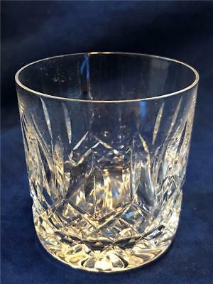 """Waterford Crystal LISMORE Cut Glass 3 3/8"""" 9 0z. Old Fashioned Tumbler - NICE!"""
