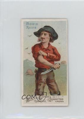 1887 Allen & Ginter Arms of all Nations Tobacco N3 #BOKN Bowie Knife Card 1s8