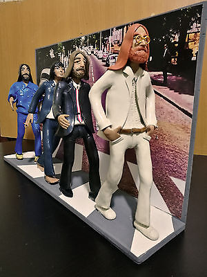 Statuetta - Figurine - Action Figures The Beatles con scenografia Abbey Road