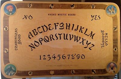Vintage 1940s Hasko Mystic Board Ouija Occult Fortune Telling Disney Witch RARE