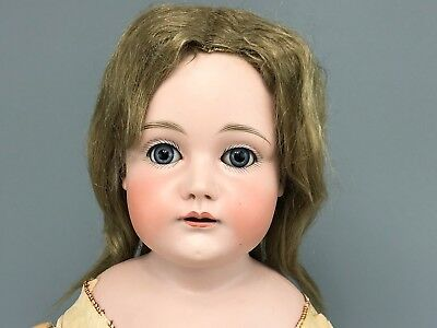 """Antique 26"""" German Bisque Doll #11 (or 14) With Unusual Face, Kestner?"""