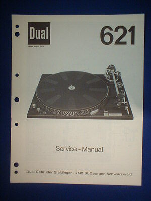 Dual 621 Turntable Service Manual Original Factory Issue The Real Thing