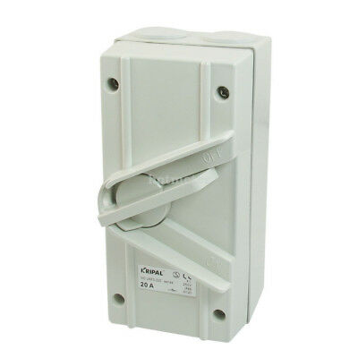 UKF3-220 AC 250V 20A IP66 2- Postion OFF - ON DPST Weatherproof Isolating Switch
