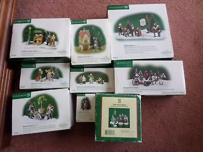 9 Dept 56 Dickens Village Lot