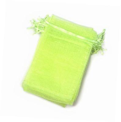 """apple green color drawstring organza jewelry pouch bags 2.8x3.6"""" 4x6"""" 5x7"""""""