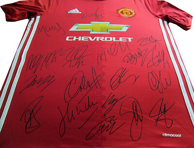 Manchester United Home 2016,17 Signed Football Shirt / Soccer Jersey + Coa