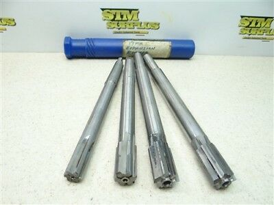"""Lot Of 4 Hss 2Mt & Reduced Shank Expansion Reamers 17.mm. 13/16"""" & 7/8"""" Htc"""