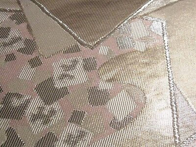 """Scattered Cards Lilac Embroidery Shimmer OBI Silk Fabric Japan 22"""" ~ NR 8444"""