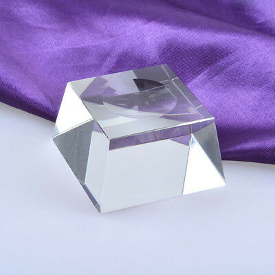 Clear Square Dimple Block Crystal Ball Display Bases Table Holder Stand 23mm