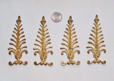 Foiur antique French gilt bronze Empire-style mounts for clock or furniture