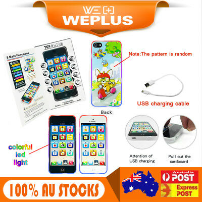 Childrens Y-Phone Educational Learning Kids Touch Screen Phone Toy light up 4s 5