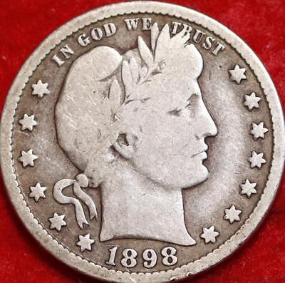 1898-O New Orleans Mint Silver Barber Quarter Free Shipping