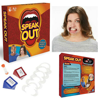Speak Out Board Game Family Party Game Mouthguard Challenge Xmas Adult Gift Toys